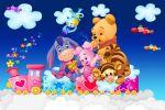 Ursinho Pooh painel festa infantil banner dkorinfest (2)