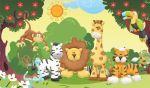 safari baby painel festa infantil banner dkorinfest (7)