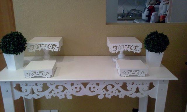 Proven al bandejas pe as decorativas e mesas doce - Mesas decorativas ...