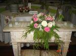 Arranjo lisiantus e rosas