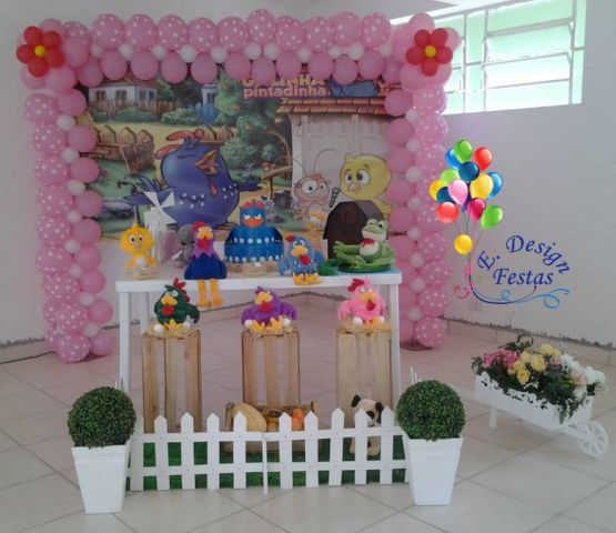 decoracao festa galinha pintadinha rosa:Festa Provençal – E. Design Festas