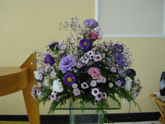Arranjo Lilas para decoração de casamento