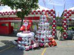 Árvore de natal e Papai Noel de Plasbol