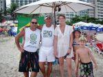 Janeiro 2010 Marcos e família no point mais caro do mundo