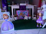 Aluguel decoração provençal - Cenários com personagens pelúcia e eva - jardim da Princesa Sofia