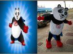Mascote Panda - Fulgaz -Campos Novos - SC