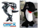 Mascote Baleia - Orca Veículos - Brasília DF