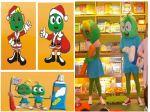 Mascotes Verdinhos - Consultório Dentário Dra Ilana - Brasília - DF