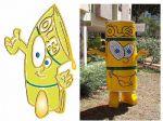 Mascote Ecodilson - Ministério das Minas e Energia  - Brasília - DF