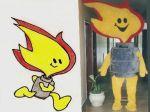 Mascote Gasinho - Supergasbras - Brasília - DF