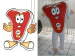 Mascote Bifão - Frigorifico Bomcorte - Brasília DF
