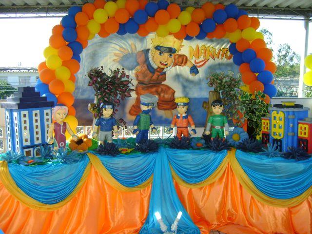 decoracao festa naruto:Decoração do Tema – Festamania Festas Infantis