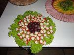 Tomate Cereja recheado com queijo roquefor