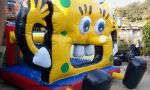 BALÃO PULA PULA BOB ESPONJA - Tamanho 3,00m (C) x 3,00m (L) x 2,60 (A) - Indicado para crianças até 8 ou 9 anos