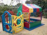 Kit Baby 2 - Tamanho 1,50m x 2,50m (01 piscina de bolinha + 01 playground com escorregdor + 01 gangorra) - Suporta crianças até 7 anos