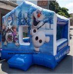 Casinha Pula Pula Frozen, tamanho 3,00m (L) x 3,00m (C) x 2,40 (A) - Indicado para crianças até 9 anos