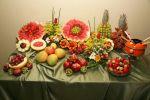 Montagem de mesa de frutas