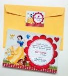 Convite 10cm x 15cm, com envelope color - 10 unid. R$ 25,00
