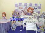 Decoração princesa Sofia  completa com mesa  de doce,castelo e armário. F 2