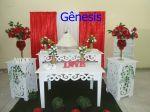 Decoração casamento branco c/ vermelho B1