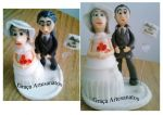 Pe�as em Biscuit para topo de bolo, bodas de ouro.