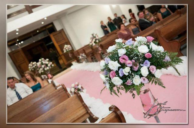 DECORACAO ROSA E MARROM IDEALE FESTAS -> Decoração De Casamento Na Igreja Rosa E Branco
