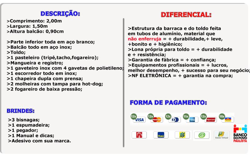 Descrição Barraca