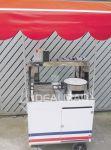 Modelo 3 - (com toldo, vitrine e 2 faixas decorativas).  Cod.CPBVT - R$1.310,00.  90cm X 55cm Vitrine, 1 fritadeira � g�s, 1 escorredor em inox, arm�rio interno, toldo e brindes.