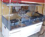 Carrinho de lanches Ideal Duplo - R$4.850,00 à vista. 1,70m X 0,70m.  hot-dog, lanches e bebidas.