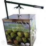 MÁQUINA DE ÁGUA DE COCO - máquina gela água de coco coqueira inox geladeira coqueteleira com furador e 3 torneiras - R$ 980,00