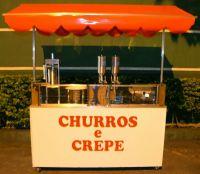 QUIOSQUE Para churros e crepe, com caixa térmica: 1,70 m X 0,55 m - R$8.700,00 à vista!