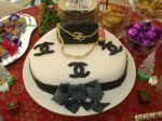 bolo decorado chanel.