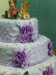 Bolo de casamento em lilás    89
