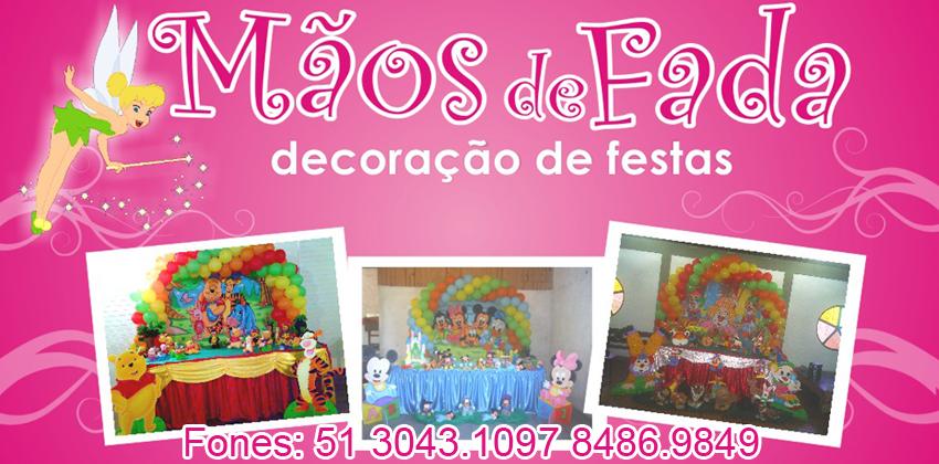 M�os de Fada Festas Decora��o de Festas Infantil  51 30431097