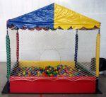 piscina de bolinhas de 2x2, estilo casinha com 2.500 bolinhas
