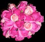 Buquê de rosas pink e rosa bebê