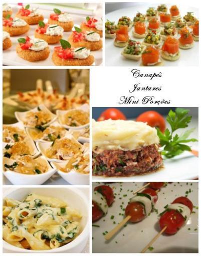 buffet opção jantares, canapés