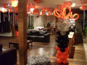 decoração com bolas buffet opç
