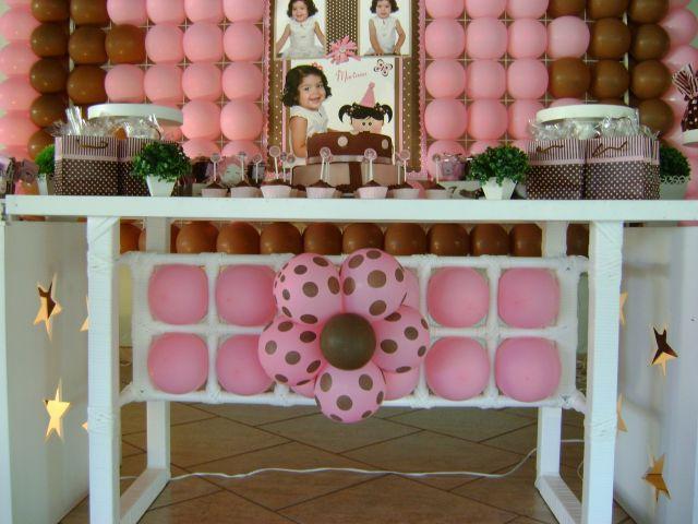 Decoraç u00e3o Clean Rosa e Marrom  Parabéns e Cia Decoraç u00e3o de Festas , Eventos e Cursos!!! -> Decoração De Festas E Eventos Cursos