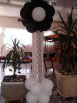 Coluna flor Preto e Branco