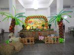Mesa Temática com coqueiros