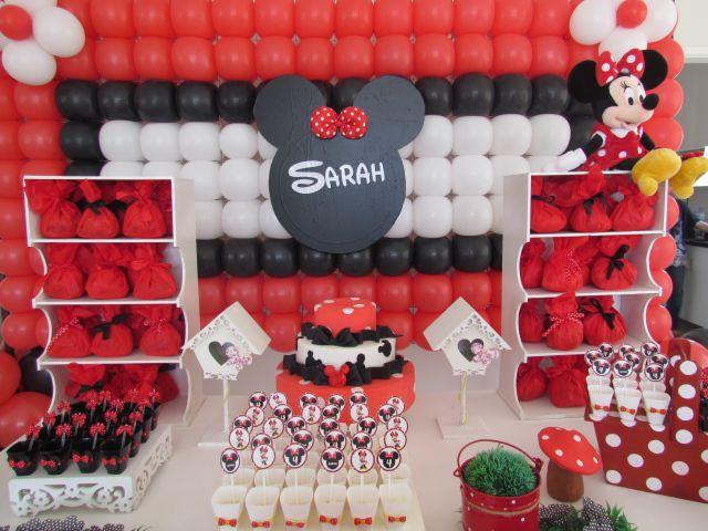 Minnie Vermelha Sarah  DECORAÇÃO DE FESTAS