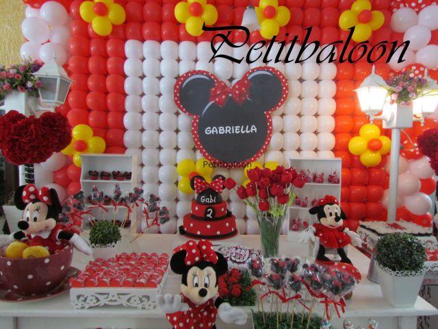 decoracao de festa infantil minnie vermelha