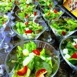 Saladinhas em taças Drink