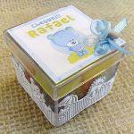 Lembrancinha Caixinha de acrilico personalizado para nascimento aniversário e chá de bebê