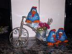 Lembrancinhas da Galinha Pintadinha na bicicleta