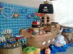 mesa tema fundo do mar