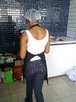 Renatinha de costas