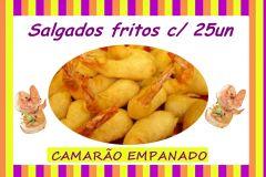 S.EMPANADO DE CAMARÃO C/ CATUPIRY FRITO C/ 25UN