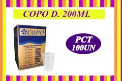COPO 200ML DESCARTAVEL C/100UN